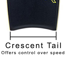 Drop Knee Bodyboard Crescent Tail